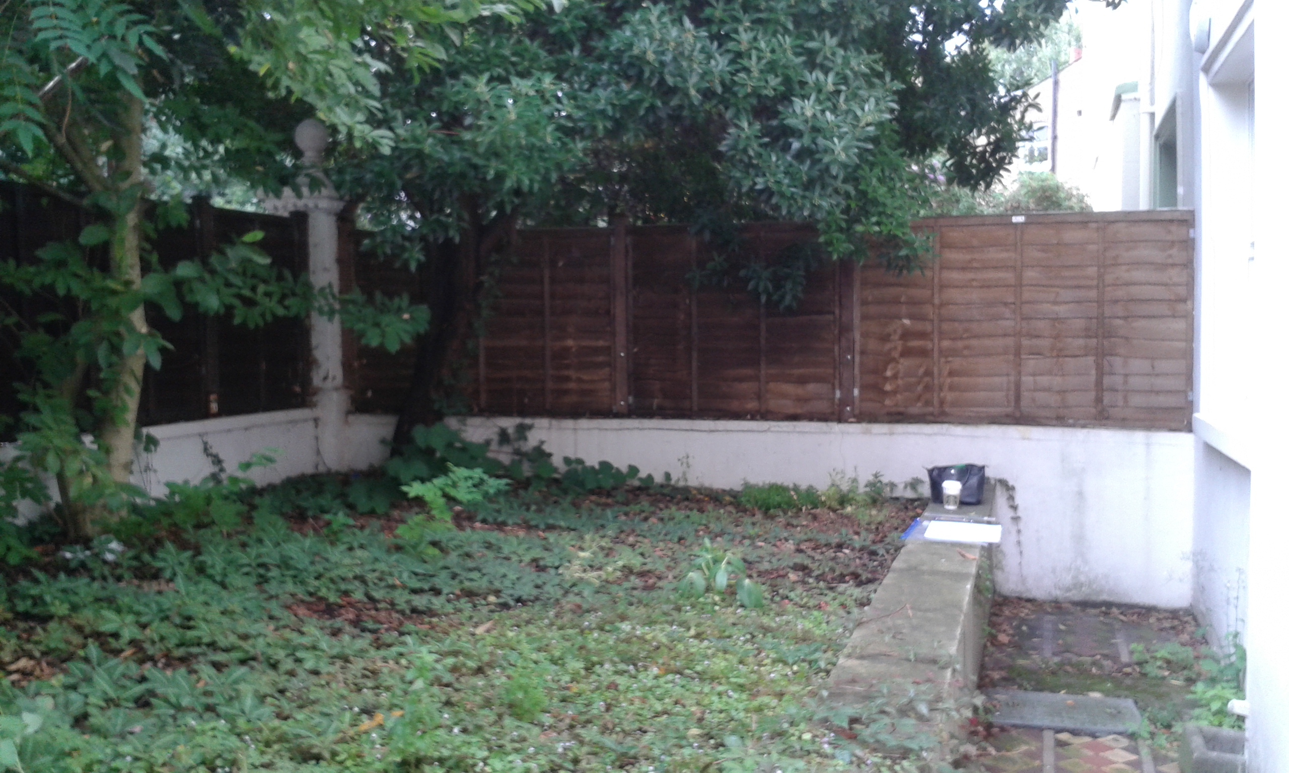 Before U0026 After In Fulham   Raised Area Dug Out And Replaced With Pavers,  Raised Borders And A Bench Built In Too: